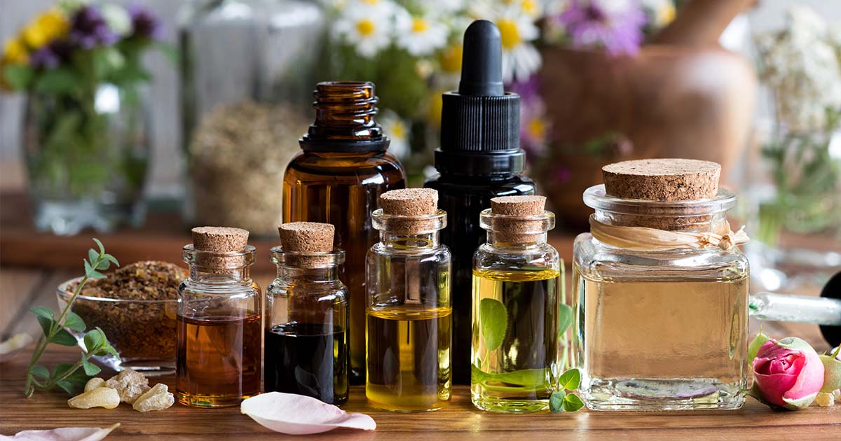 Small vials of oils
