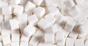 Cubes of sugar.